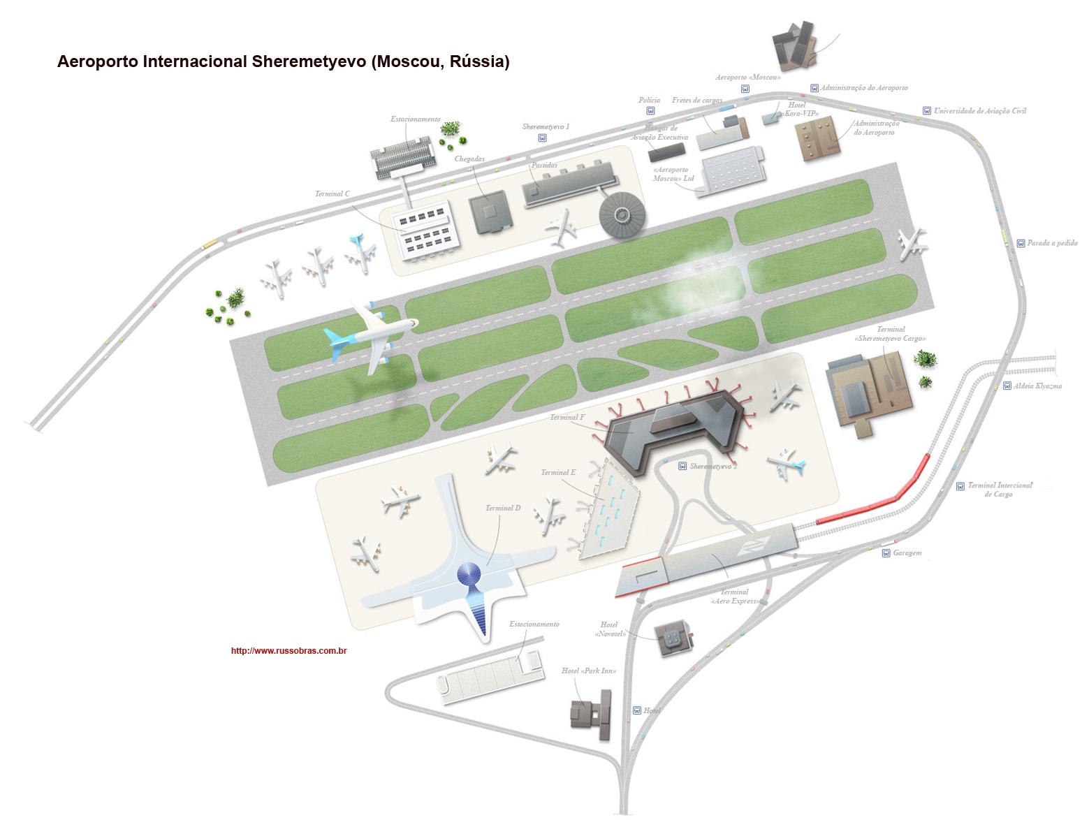 mapa aeroporto ECONOMIA DA FEDERAÇÃO DA RÚSSIA | AEROPORTOS | o aeroporto  mapa aeroporto