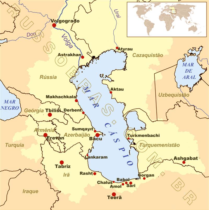 mar cáspio mapa RECURSOS HÍDRICOS DA FEDERAÇÃO DA RÚSSIA | OS MAIORES LAGOS | Mar  mar cáspio mapa
